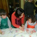 taller de pan en familia