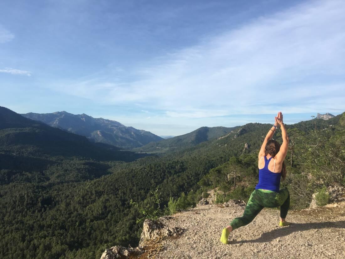 yoga en la naturaleza
